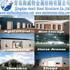 Qingdao Havit Steel Structure Co.,ltd-Steel Workshop,Steel Warehouse,Steel Shed,Prefabricated Steel , CONSTRUCCION DE EDIFICIOS COMPLETOS Y PARTES DE EDIFICIOS; OBRAS DE INGEN. CIVIL, Steel Structure Buildings,Steel Workshop,Steel Warehouse,Prefabricated Steel Buildings,Industry Steel Buildings,Prefab house