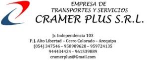 Empresa de Transportes y Servicios CRAMER PLUS S.R.L., OTROS TIPOS DE TRANSPORTE POR VIA TERRESTRE, CERRO COLORADO, Transporte de carga